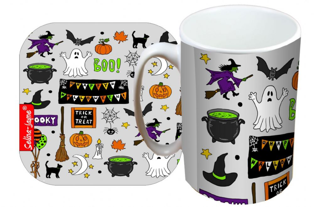 Selina-Jayne Halloween Limited Edition Designer Mug and Coaster Set
